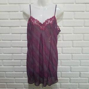 Victoria's Secret Purple Chemise Nightgown L